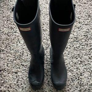 Hunter Navy Adjustable Boots